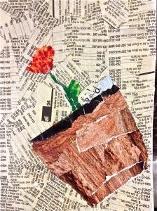 phonebook & magazine sketchbook collage